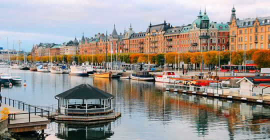 Image of Stockholm homes looking across river