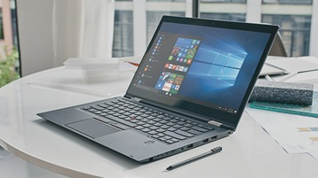 A PC with Windows 10 Start menu