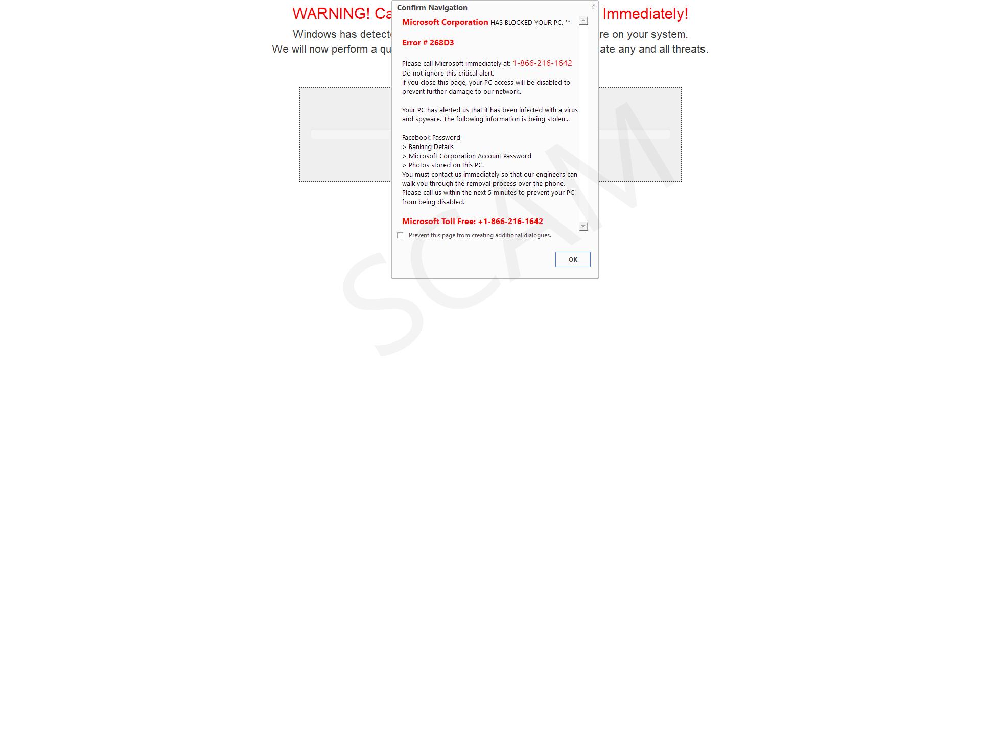 Microsoft Corporate HAS BLOCKED YOUR PC.**