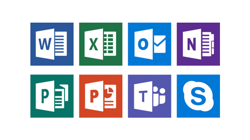 Multiple Office 365 app icons
