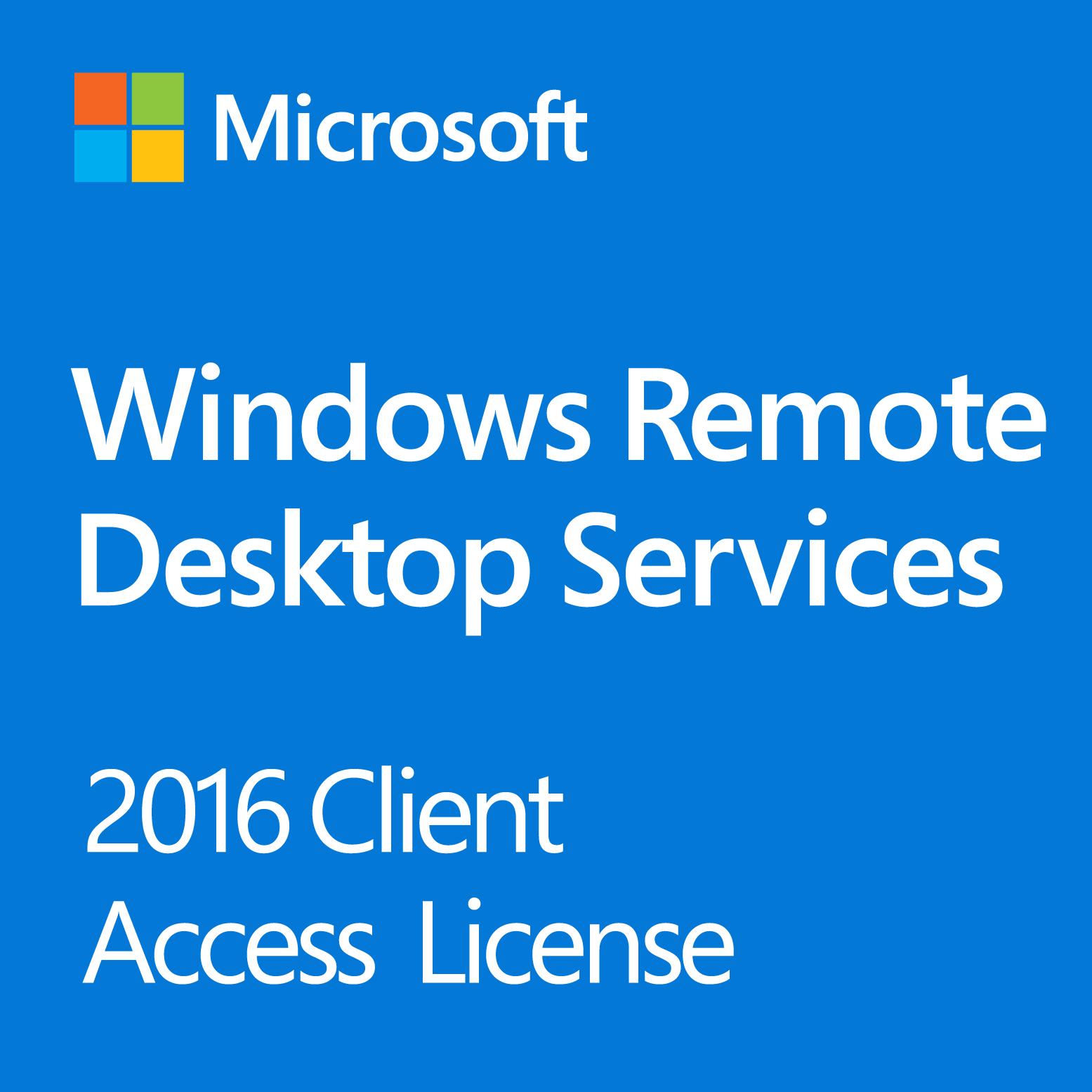Windows Server 2016 Remote Desktop Services 1-User CAL