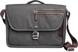 Brenthaven Collins Horizontal Messenger Bag - Graphite