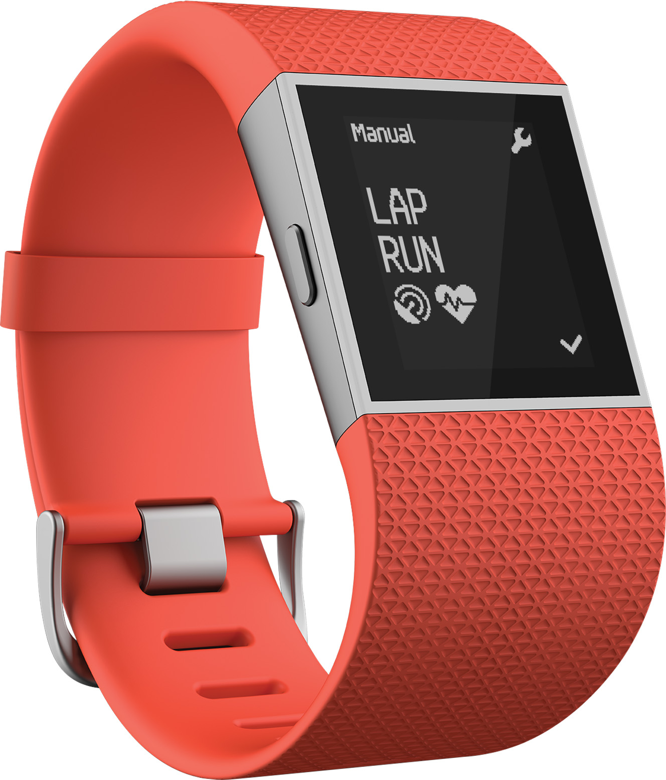 Fitbit Surge Fitness Super Watch (Tangerine) - Large