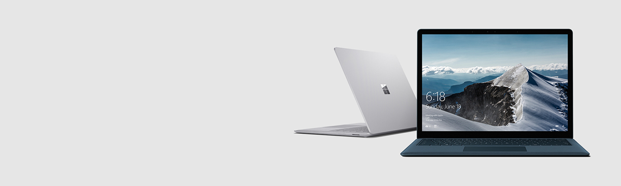 Dois dispositivos Surface Laptop