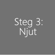 Steg 3: Njut