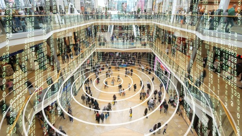 Visualisation of data in a shopping mall