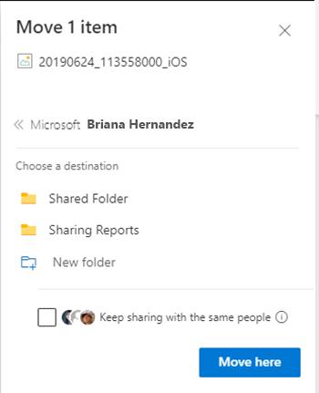 New sharing option
