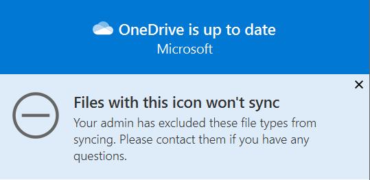 Sync warning