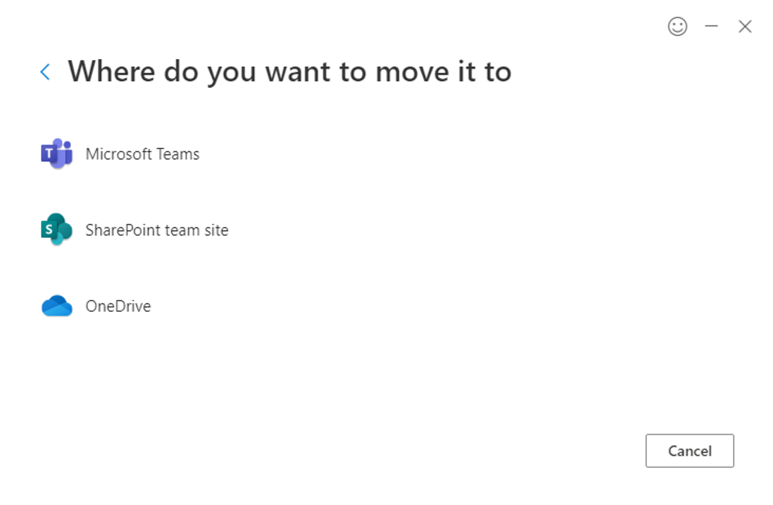 Teams option