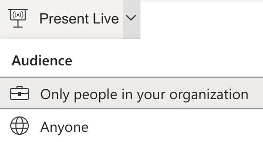 presenter options