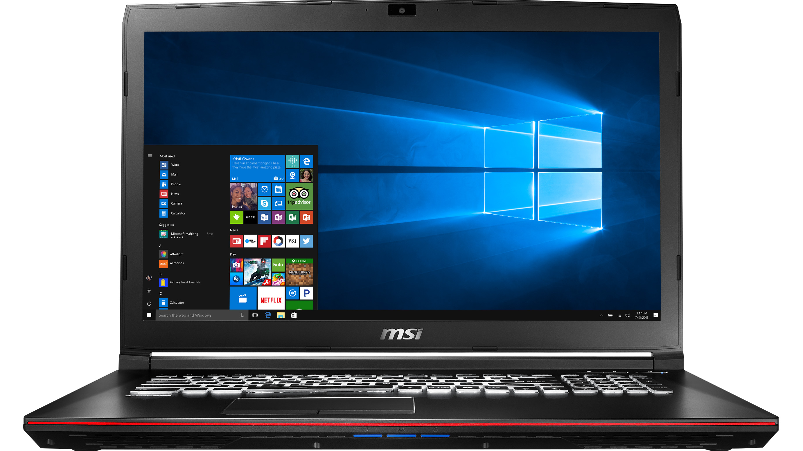 MSI GP72VR Leopard Pro-284 Gaming Laptop Deal