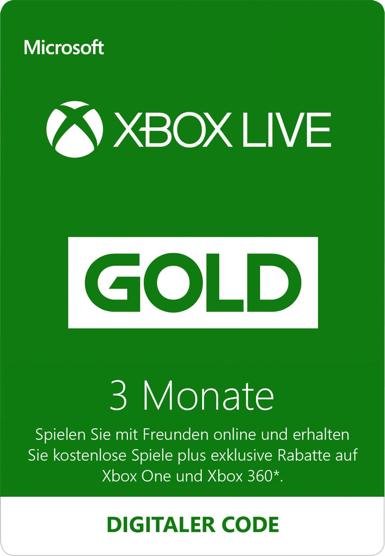 3-monatige Xbox Live Gold-Mitgliedschaft (Digitaler Code)