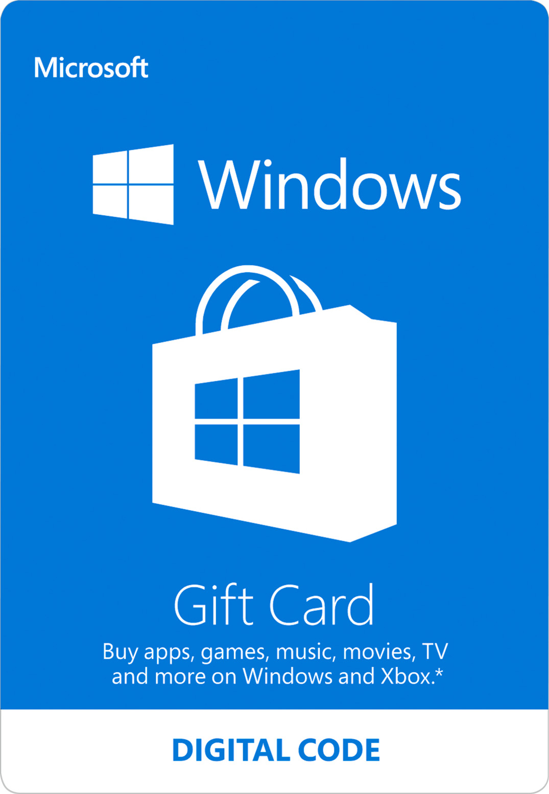 Windows Store Digital Gift Card: $100.00