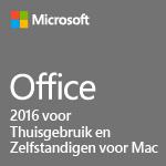 Office 2016 voor Thuisgebruik en Zelfstandigen voor Mac