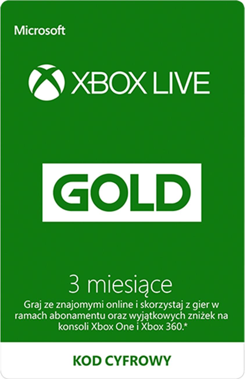 3-miesięczne konto Xbox Live Gold