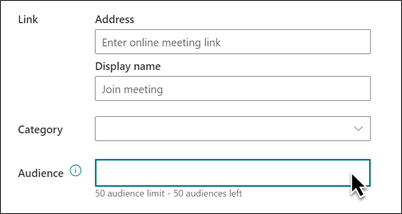 Add an event with audience targeting