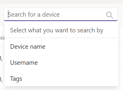 New Search Options
