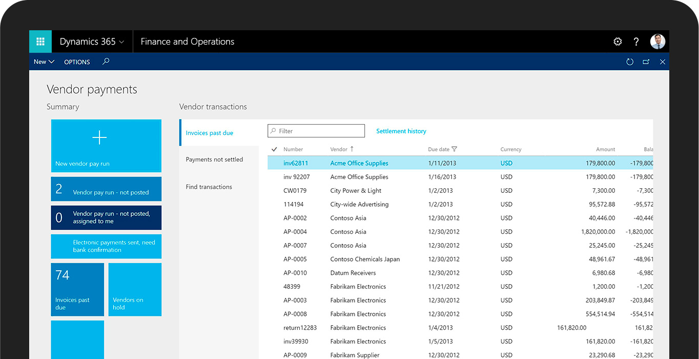 Try Dynamics 365 for Finance and Operations, Enterprise edition