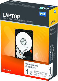 Western Digital 1TB Hard Drive for Laptops