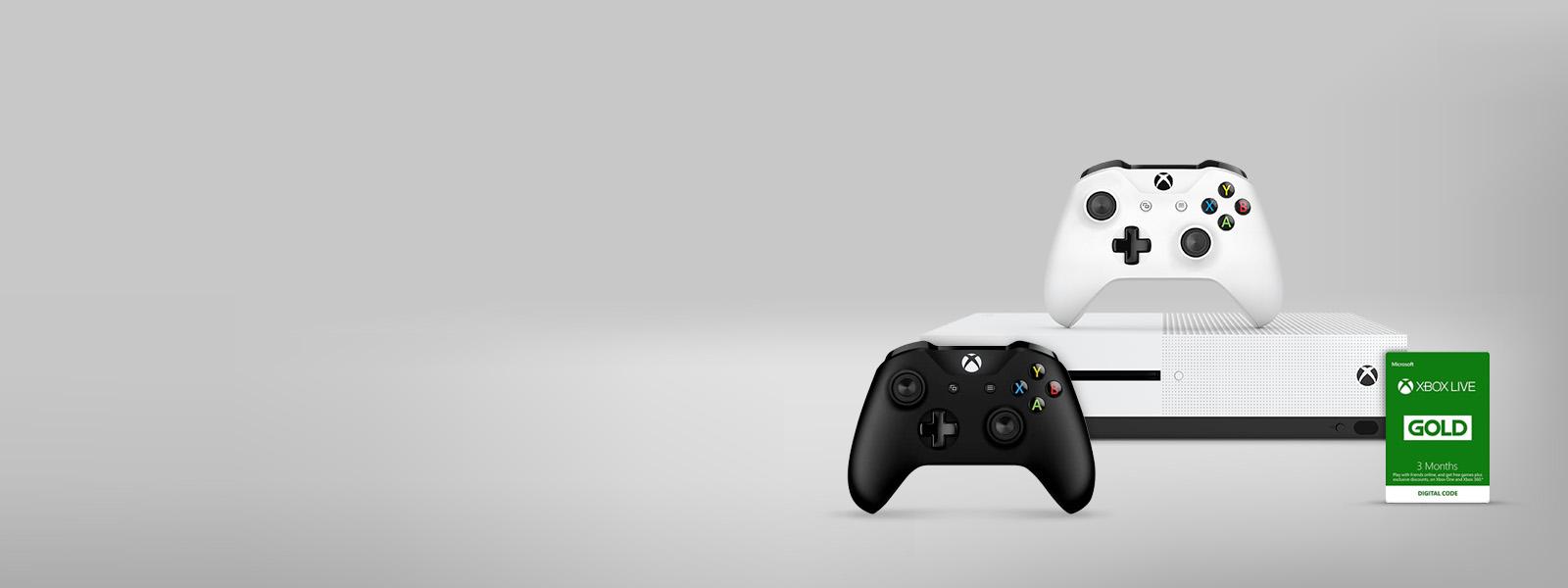 Consola Xbox e controlos