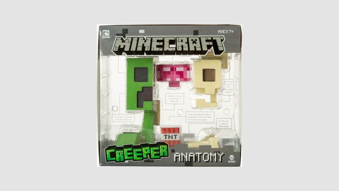 Buy Minecraft Creeper Anatomy Deluxe Vinyl Figure Microsoft Store