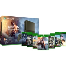 Xbox One S 1TB Console - Battlefield 1 Bundle + Free Game of Choice