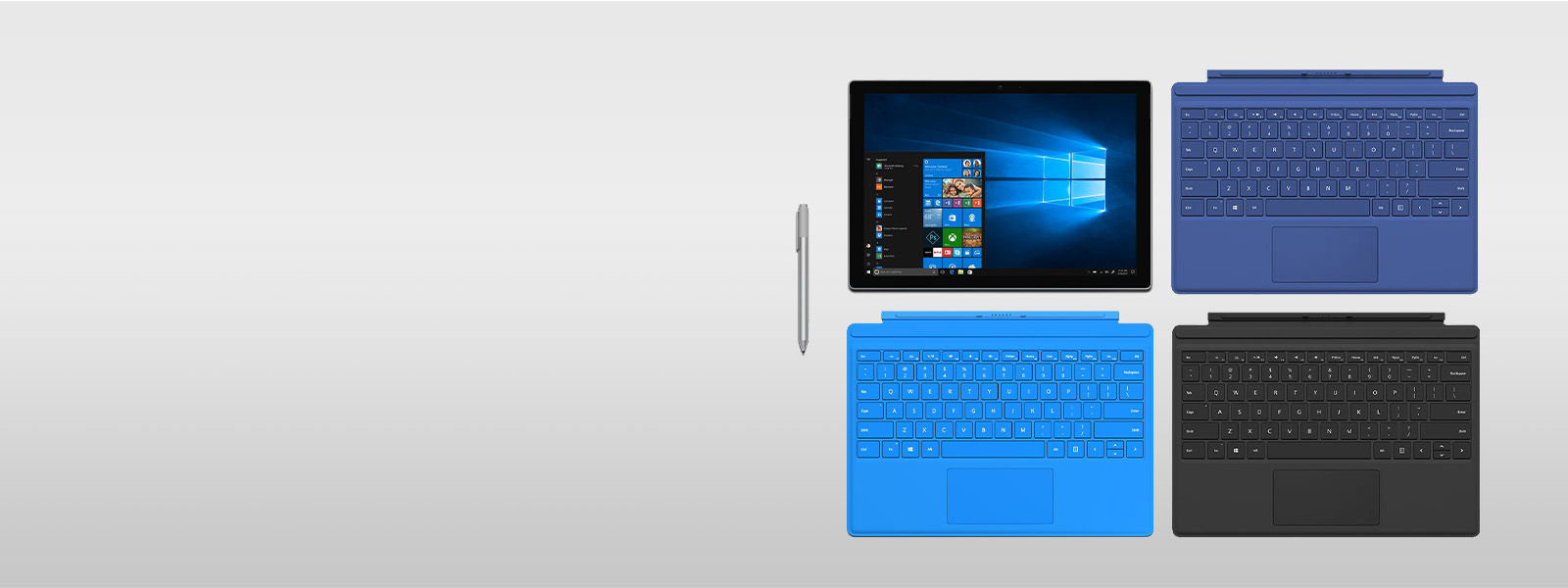Surface Pro 4 with type covers