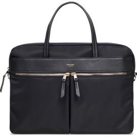 "Knomo Hanover Slim Briefcase 14"" Black"