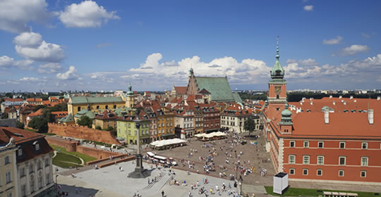 Image of Warsaw city skyline