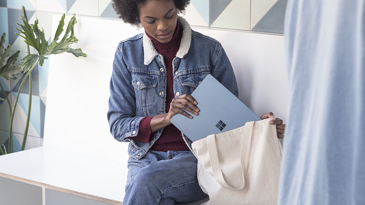 Student with a Surface Laptop