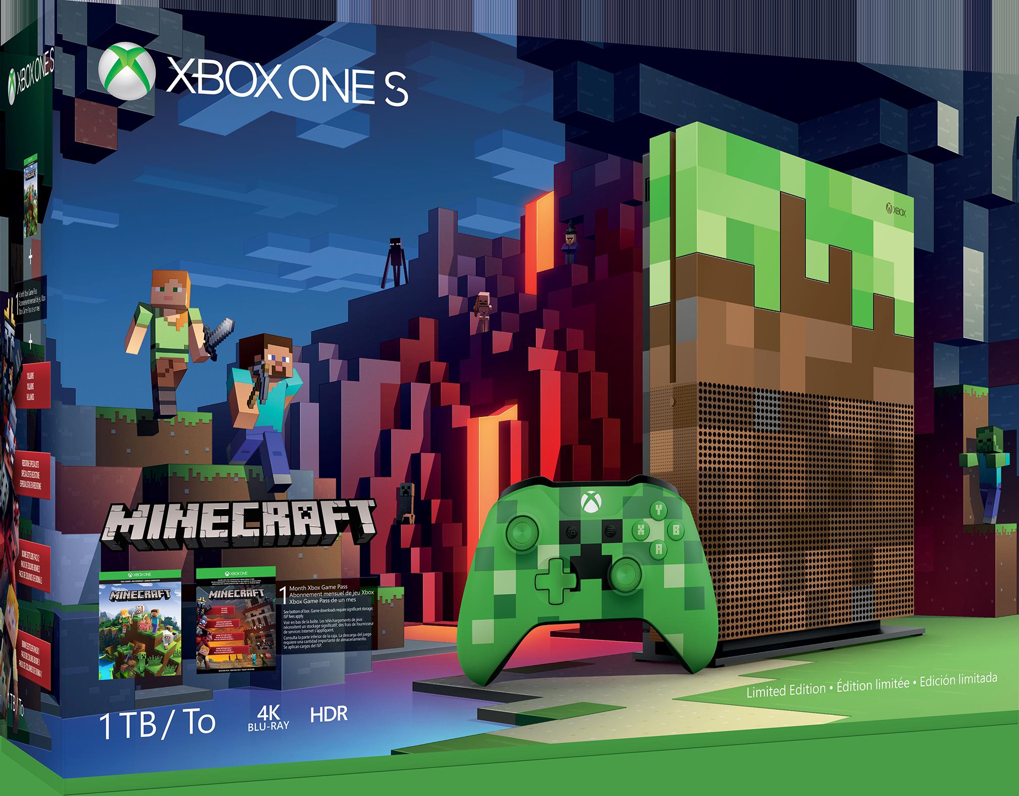 【9月30日まで7,398円値引き】Xbox One S 1TB Minecraft リミテッド エディション