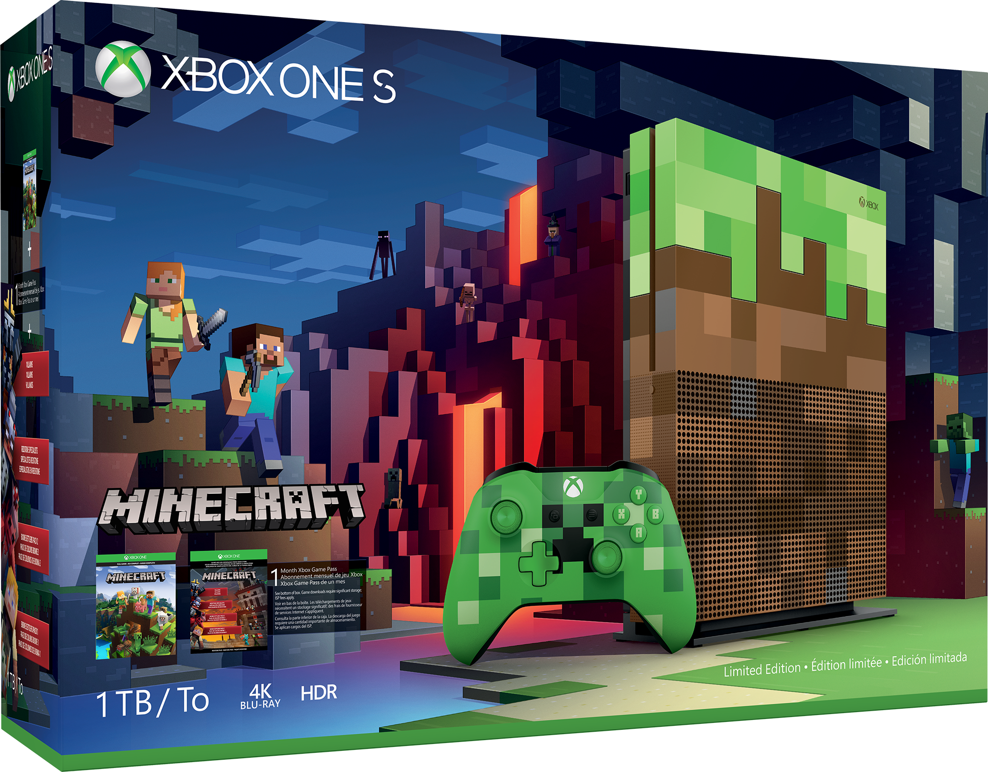 Xbox One S Minecraft Limited Edition-Bundle (1 TB)