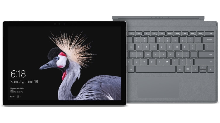 Surface Pro + Platinum Signature Type Cover Bundle