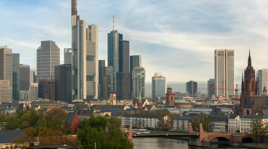 Image of Frankfurt, Germany skyline