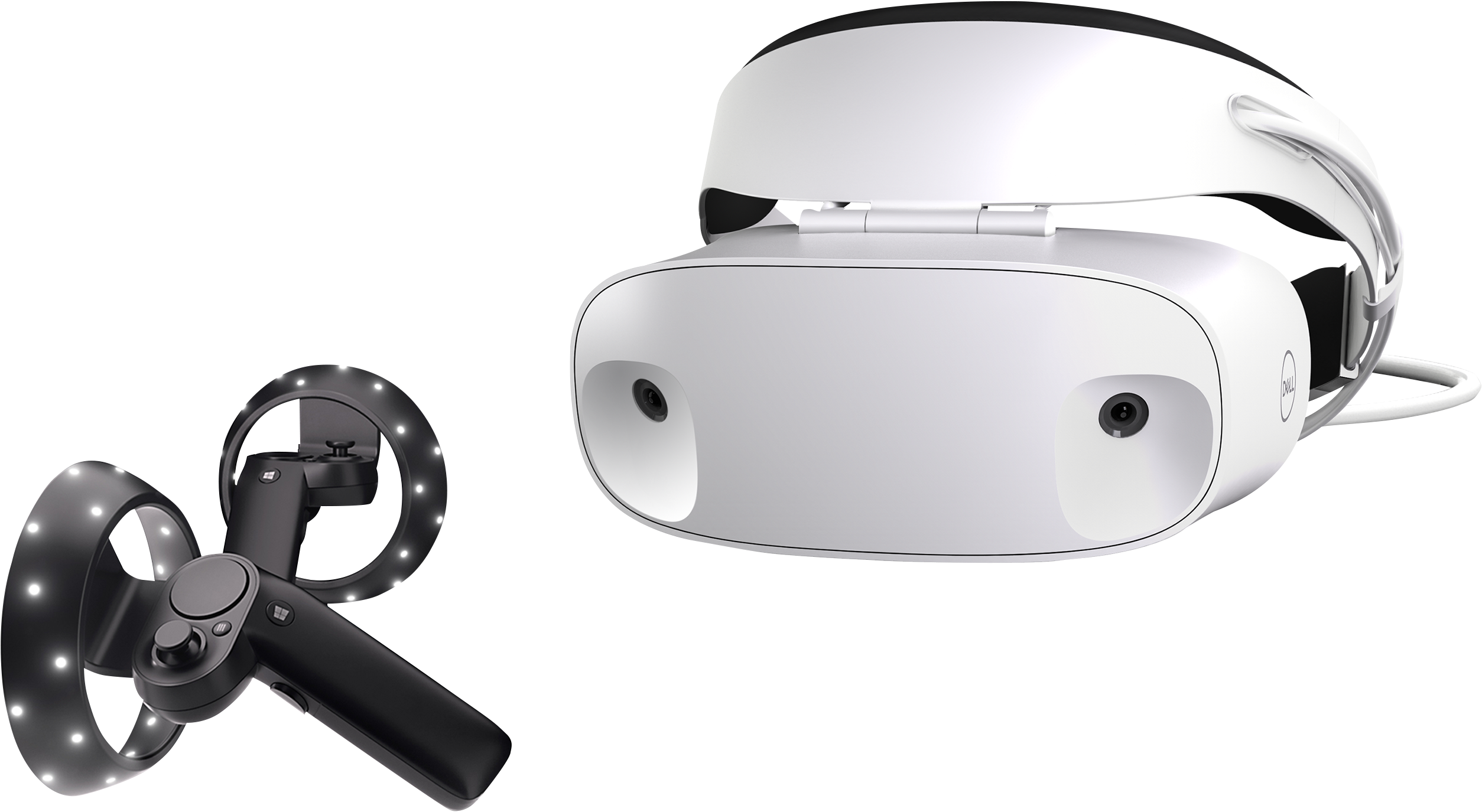 Dell Visor Windows Mixed Reality-Headset mit Motion-Controllers