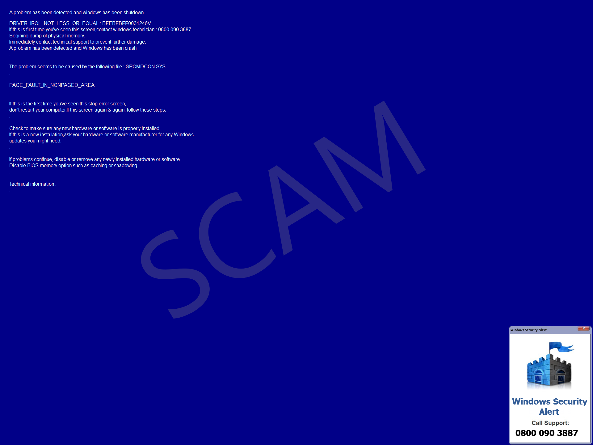 RE1DCMA?ver=4066 tech support scams windows defender security intelligence  at edmiracle.co