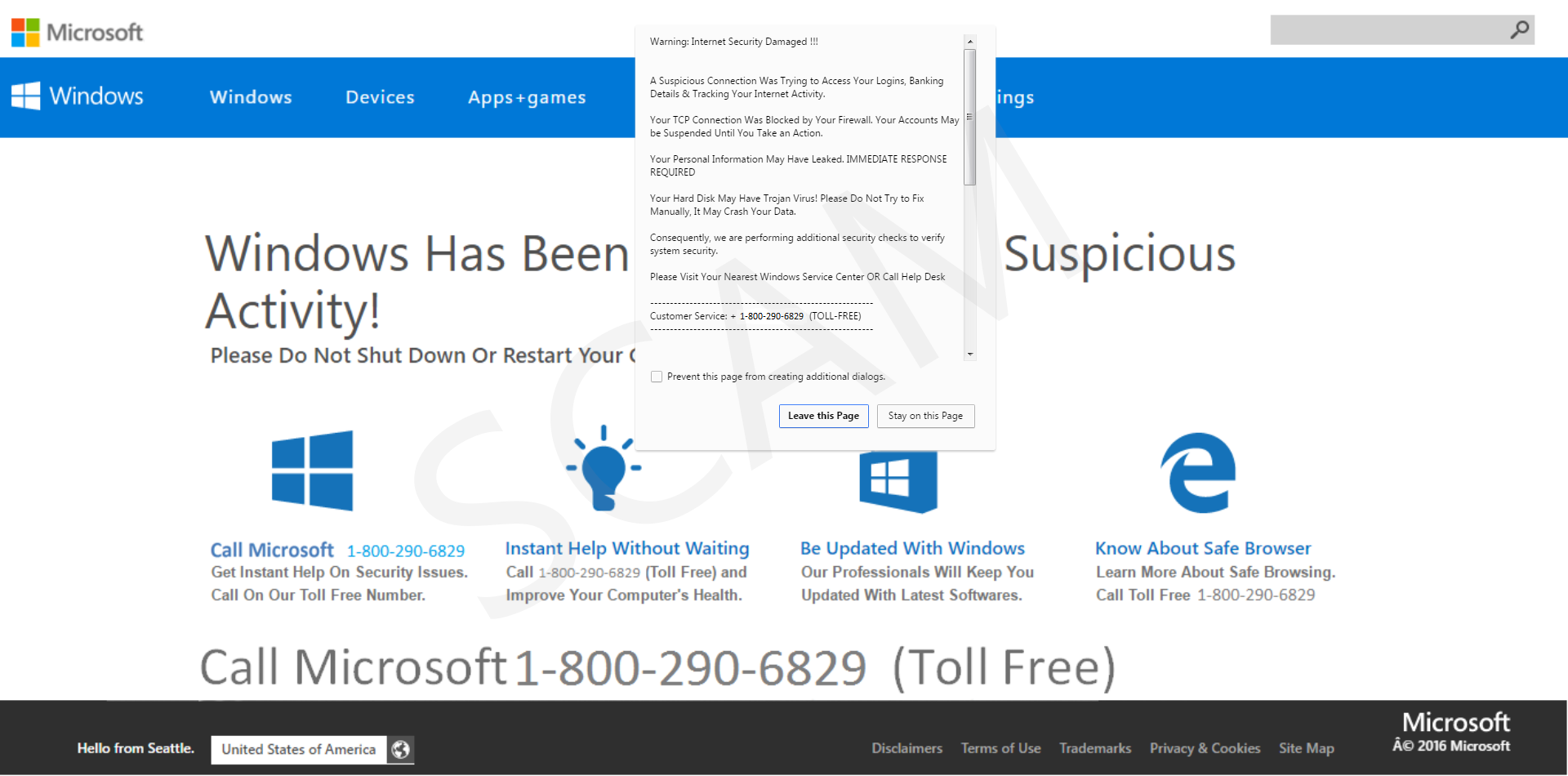 RE1DCMo?ver=11f4 tech support scams windows defender security intelligence  at edmiracle.co