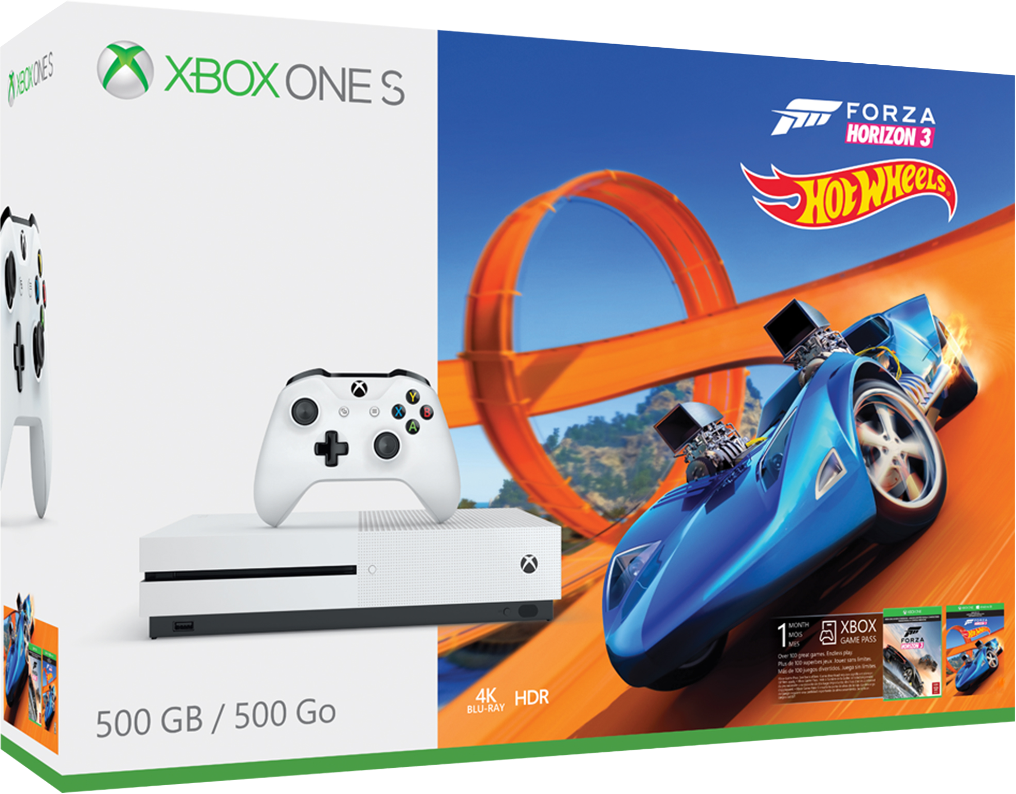 Balíček konzole Xbox One S 500 GB a hry Forza Horizon 3 Hot Wheels
