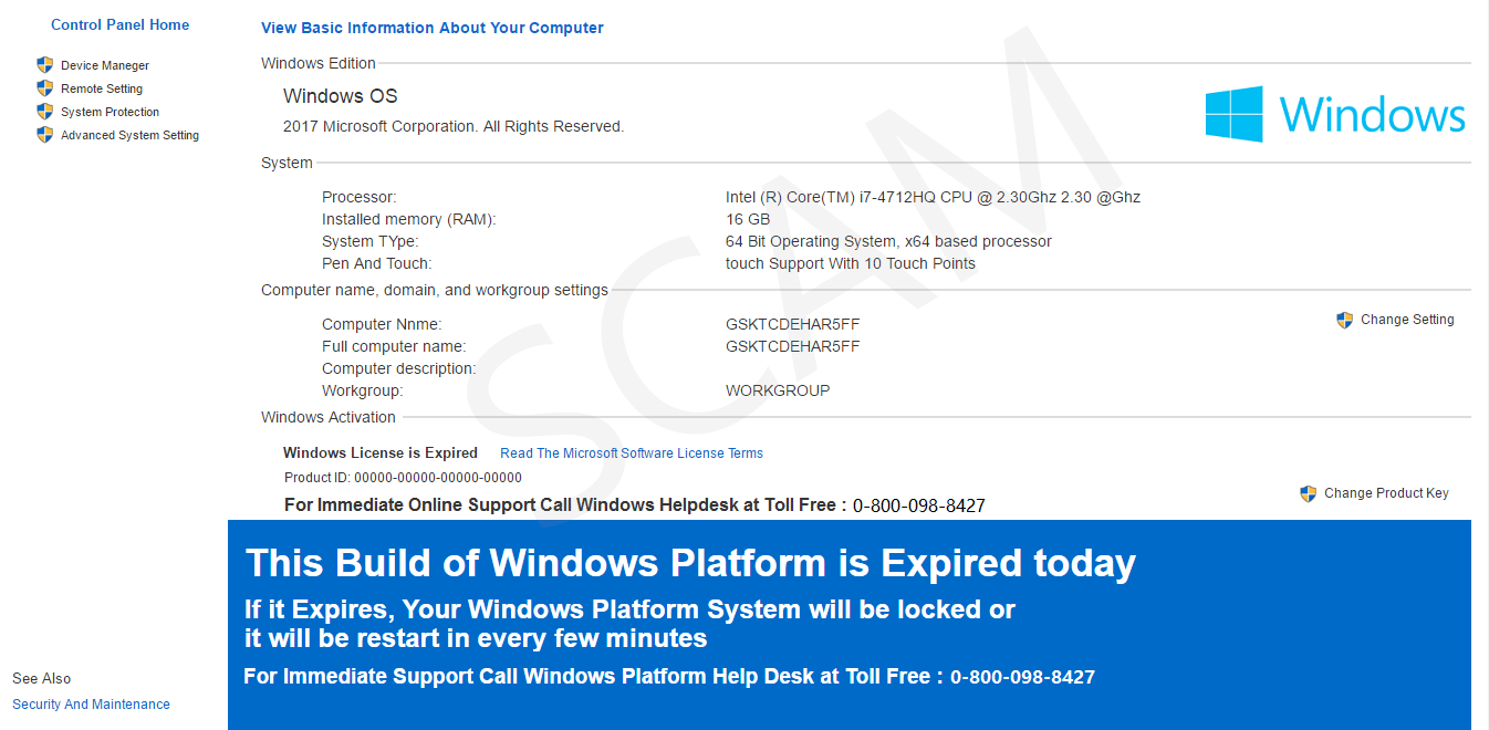This Build of Windows Platform is Expired Today