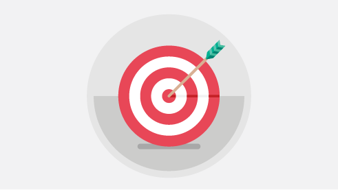 Illustration of a target bullseye