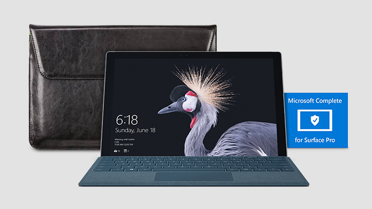 Surface Pro, Microsoft Complete and laptop sleeve