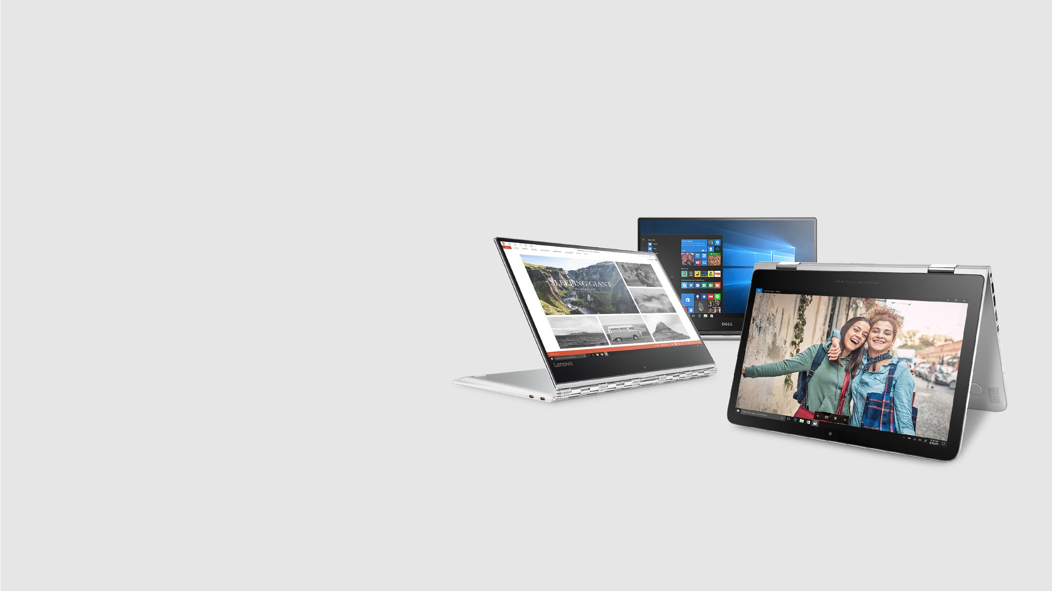 Three Windows PCs