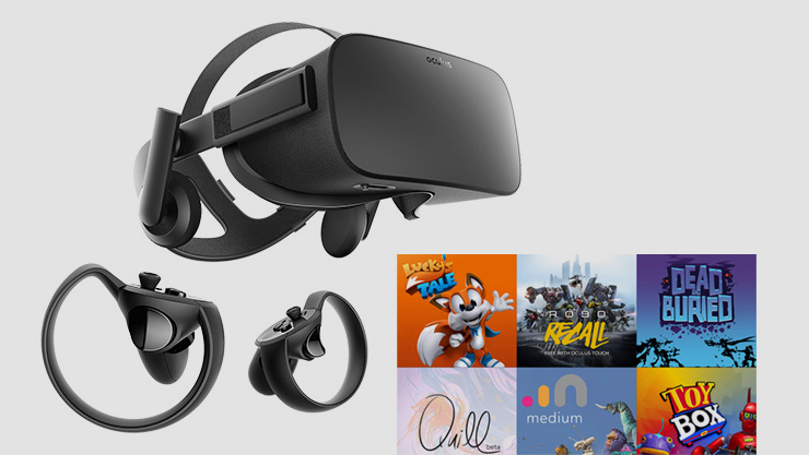 Oculus Rift with assorted games