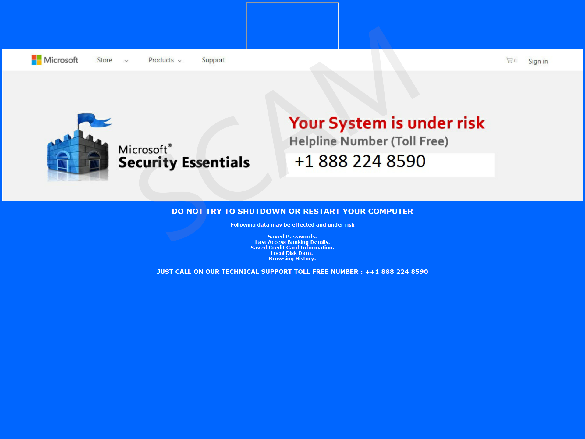 Your System is under risk