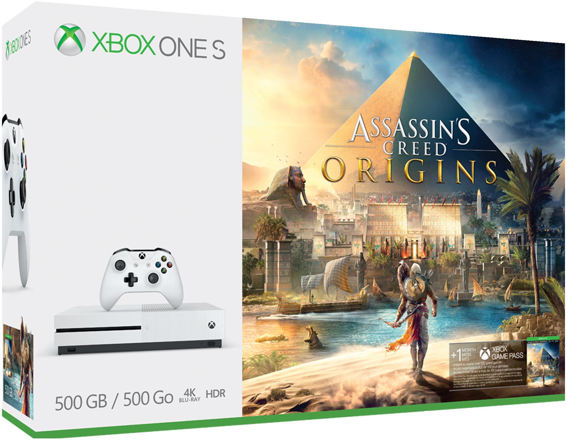 Xbox One S 500GB Console - Assassin's Creed Origins Bundle ZQ9-00225
