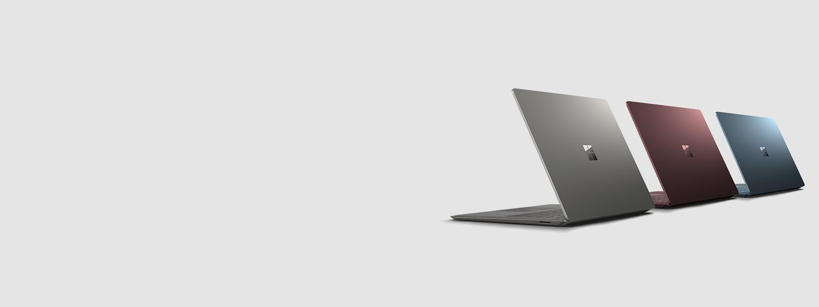 Surface Laptop in den Farben Bordeaux Rot, Kobalt Blau oder Graphit Gold