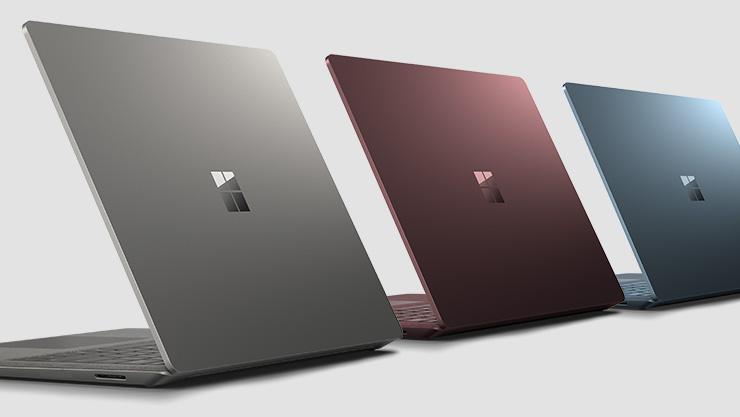 Surface Laptop i 3 farver