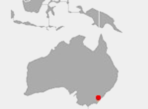 Map of Australia highlighting Sydney Australia
