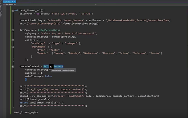 Fotograma del vídeo SQL Server 2017: Advanced Analytics with Python