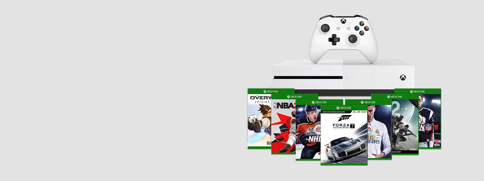 consoles xbox one et xbox one s jeux et accessoires microsoft store. Black Bedroom Furniture Sets. Home Design Ideas